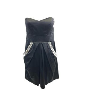 City Triangles Black Strapless Dress Juniors 1